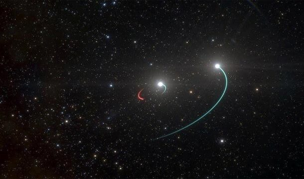 Earth's Nearest Black Hole has two Partners in Shocking Celestial Marriage
