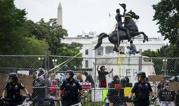 Protesters Tried to Topple Statue of Andrew Jackson Outside White House