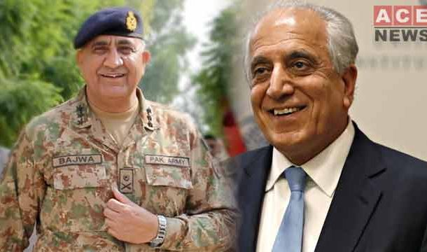Zalmay and COAS Discussed Regional Security, Afghan Peace Process: ISPR