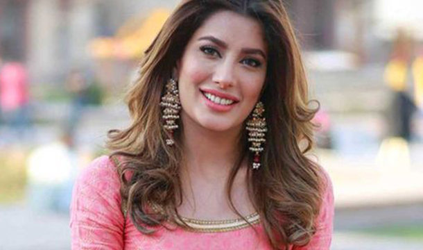 Mehwish Hayat Shows Her Beauty in a Blue Outfit