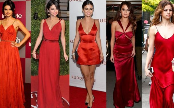Selena Gomez is Burning in Red Outfit