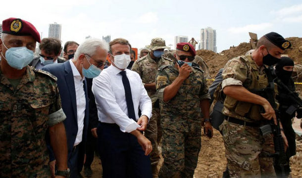 Macron Says Aid Will not go to 'Corrupt Hands' for Blast-Stricken Lebanon