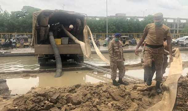 Relief and Rescue Operations Continue by Pak Army in Jhal Magsi and Dadu