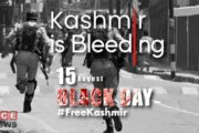 Pakistani`s Along with Kashmiris Observing India's Independence Day as Black Day