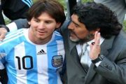 Late Maradona & Messi Playing Tennis, Football Together
