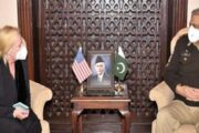 Acting US Charge d' Affairs to Pakistan Angela Aggeler Met with COAS Bajwa