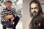 Ertugrul's Iconic Engin Altan and his Cat Enjoy Snowfall, Looks Like Brad Pitt in a Fresh Snap