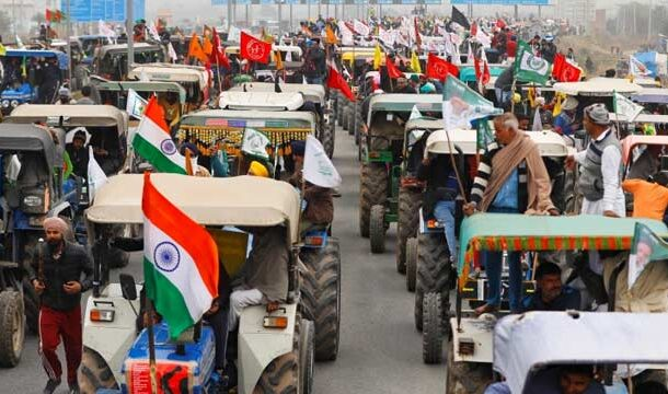 Protesting Indian Farmers Warned to Protest Outside Parliament
