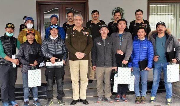 K2 Mountain Scaled Nepalese Climbers Meets with COAS Bajwa: ISPR