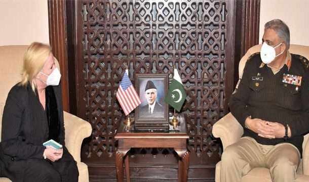 US Charge D' Affairs to Pakistan Ms Angela Aggeler Called on COAS: ISPR