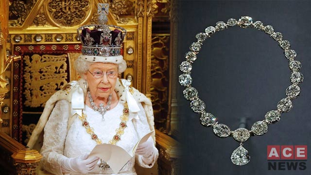 United Kingdom Queens Uses Lahore Diamond Necklace on Coronation