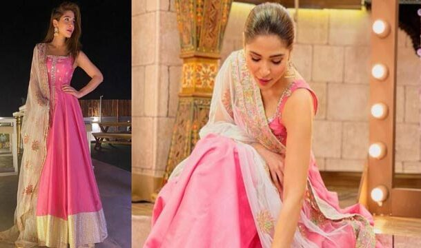 Ayesha Omar Proves she's the Queen of Fashion in this Candy Pink Dress