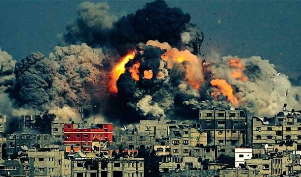 Over 215 Palestinians Martyred as Israel Bombarded Gaza with Airstrikes