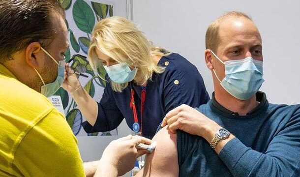 First Dose of Covid-19 Vaccine is Given to Prince William