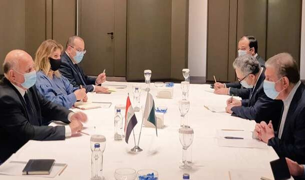 FM Qureshi Held Meeting with His Iraqi Counterpart in Turkey