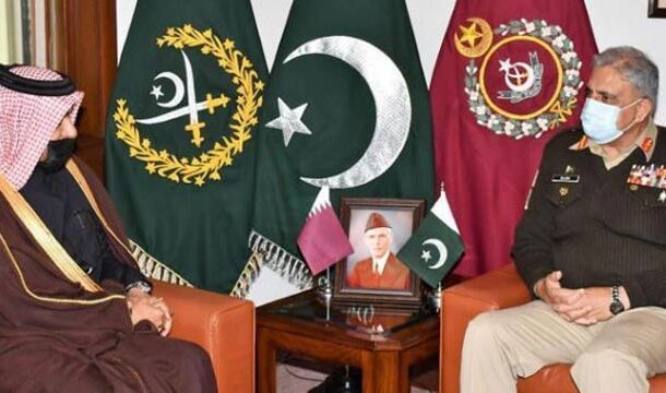 COAS Bajwa Meets with Qatar's Special Envoy at GHQ