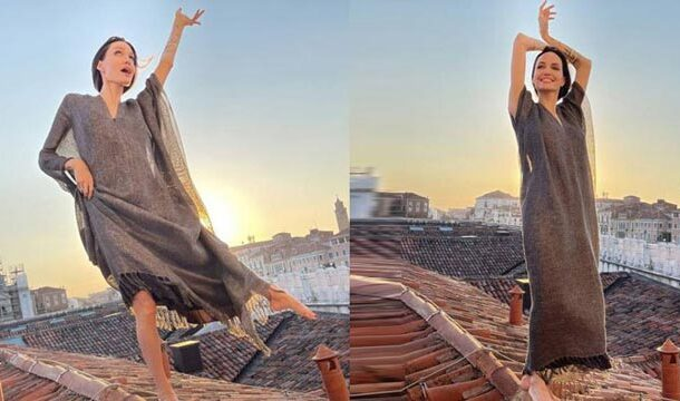 Angelina Jolie's Freewheeling Rooftop Photograph in Italy has Taken the Internet by Storm